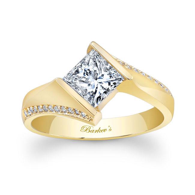 Princess Cut Square Moissanite Ring Image 1