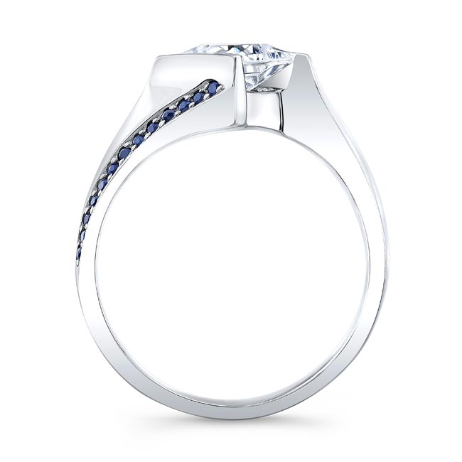 Princess Cut Square Sapphire Ring Image 2
