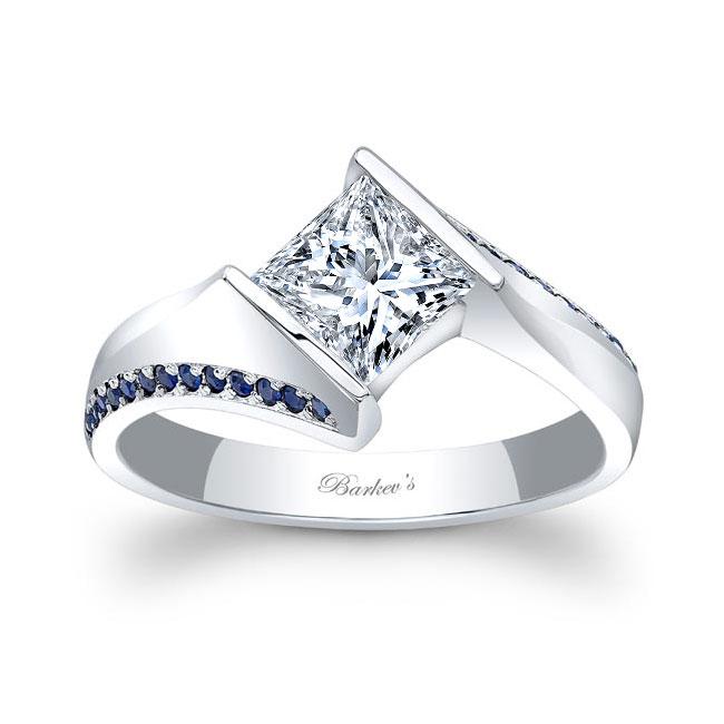 Princess Cut Square Sapphire Ring