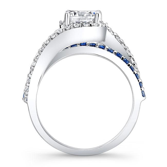 1 Carat Diamond And Blue Sapphire Ring Image 2
