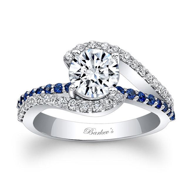1 Carat Diamond And Blue Sapphire Ring Image 1