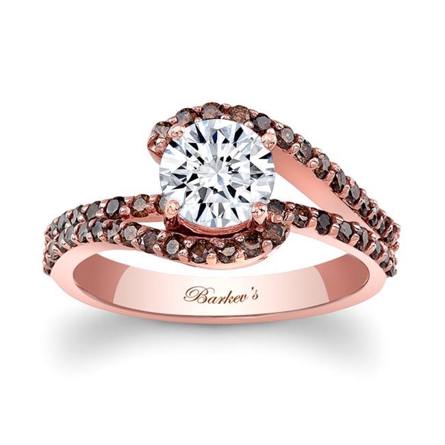 Rose Gold 1 Carat Moissanite Champagne Diamond Ring