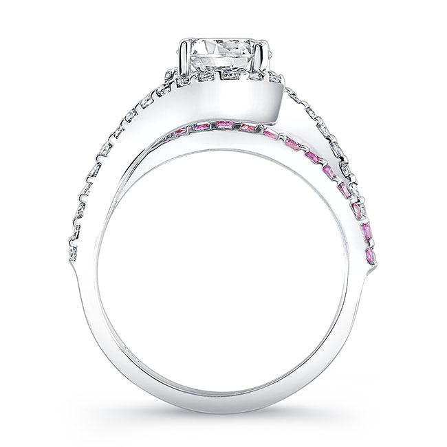 1 Carat Diamond And Pink Sapphire Ring Image 2