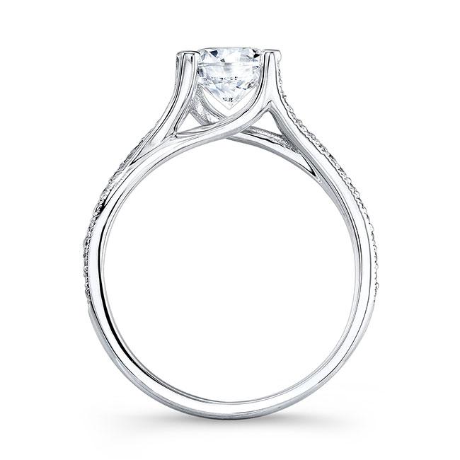 V Shaped Engagement Ring Image 2