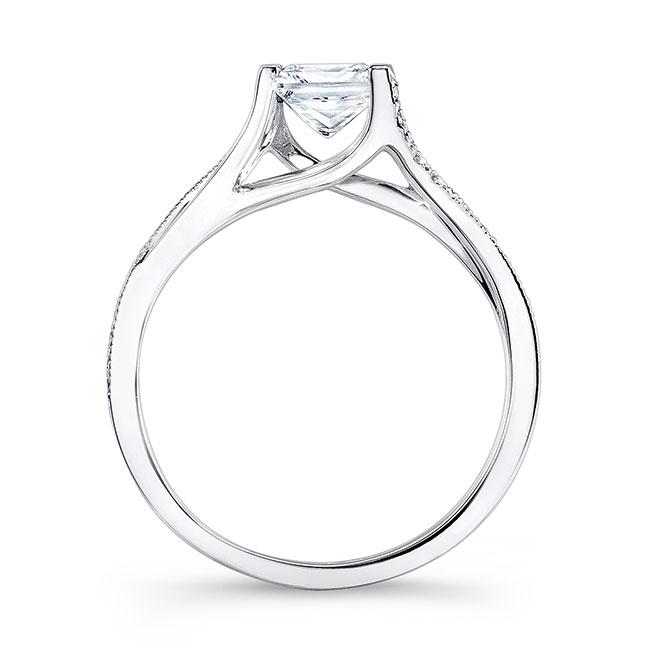 Princess Cut V Shaped Ring Image 2