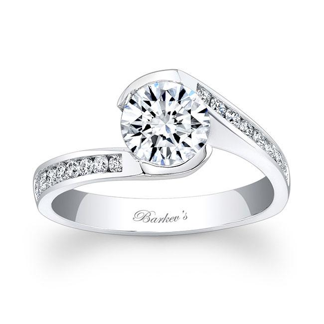 Channel Diamond Engagement Ring 7859L