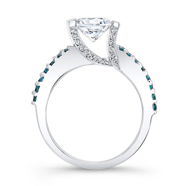 Blue Diamond Engagement Ring 7867LBD Image 2