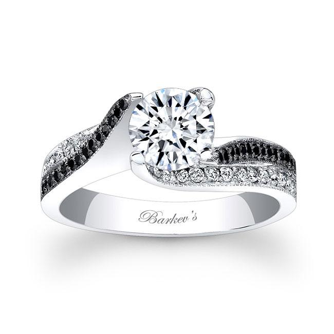 Black Diamond Engagement Ring 7869LBK Image 1