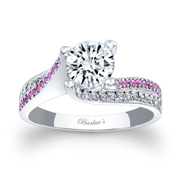 Pink Sapphire Engagement Ring 7869LPS