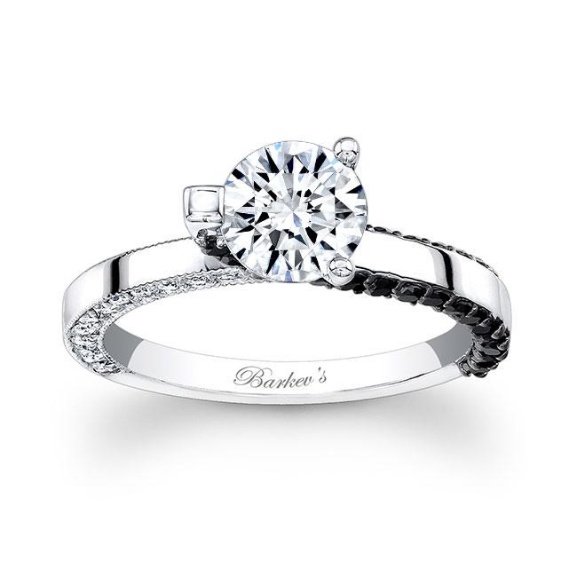 Black Diamond Engagement Ring 7870LBK