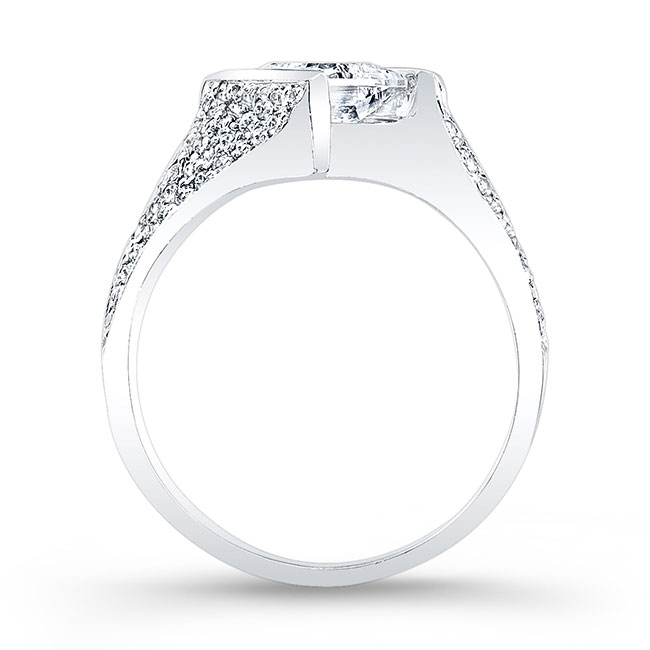 Princess Cut Moissanite Engagement Ring MOI-7872L Image 2
