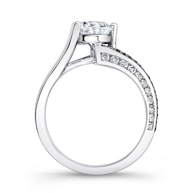 Black & White Diamond Moissanite Engagement Ring MOI-7873LBK Image 2