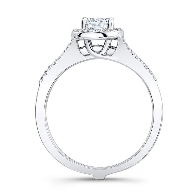 White Gold Halo Bridal Set 7875S Image 2