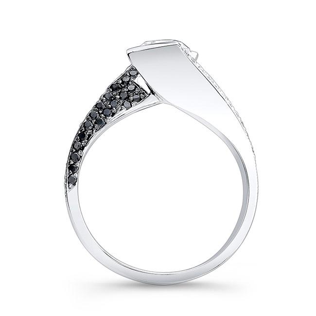 Black Diamond Moissanite Engagement Ring MOI-7879LBK Image 2