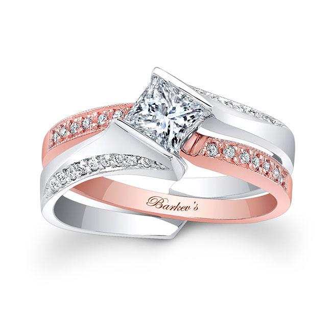 Princess Cut Moissanite Bridal Set MOI-7880S