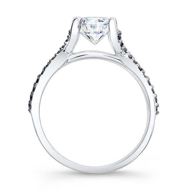 Black Diamond Engagement Ring 7881LBK Image 2