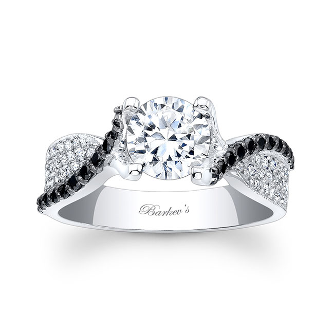 Black Diamond Engagement Ring 7881LBK
