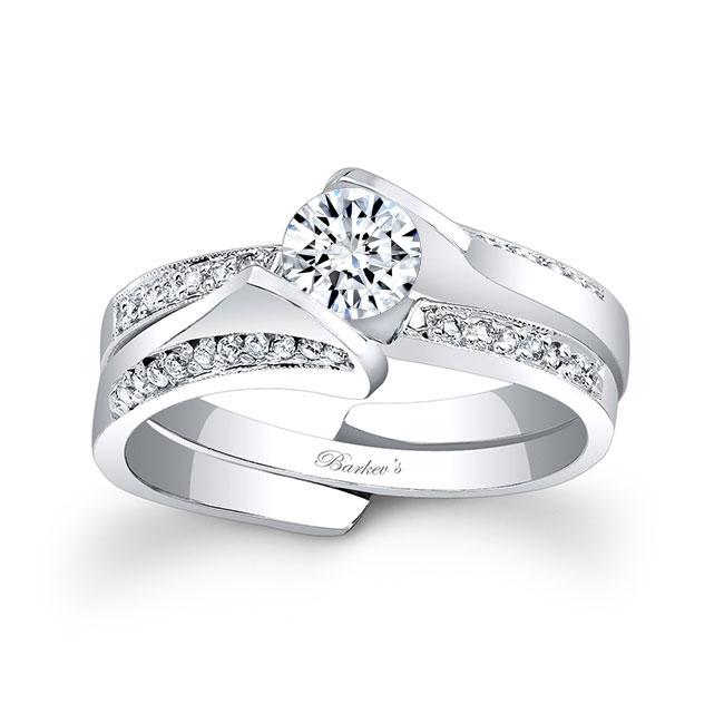 White Gold Diamond Bridal Set 7884S Image 1