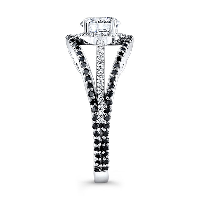 Black Diamond Moissanite Engagement Ring MOI-7886LBK Image 3