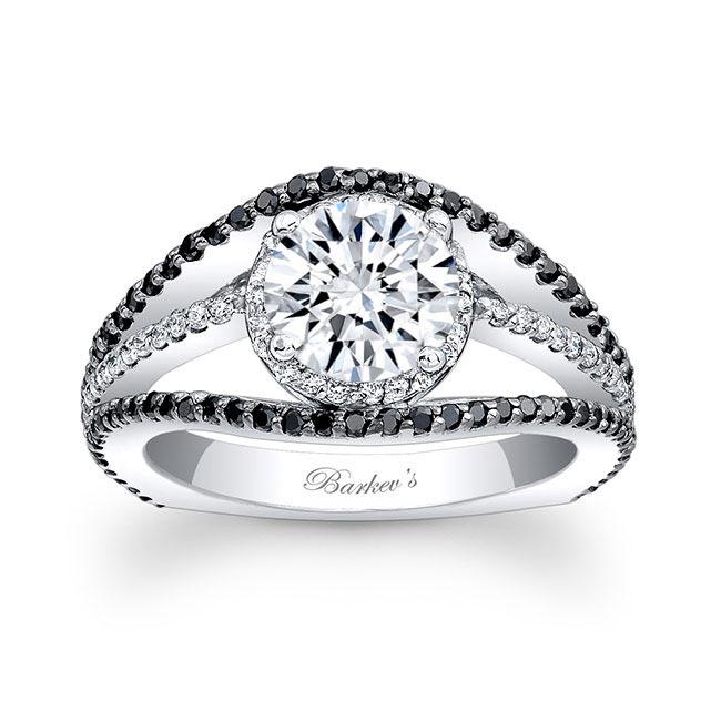 Black Diamond Engagement Ring 7886LBK