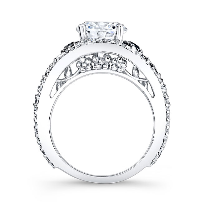 Black & White Diamond Engagement Ring 7892LBK Image 2