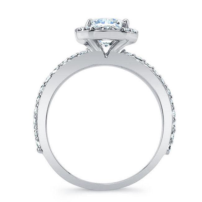 Halo Diamond Engagement Ring Image 2