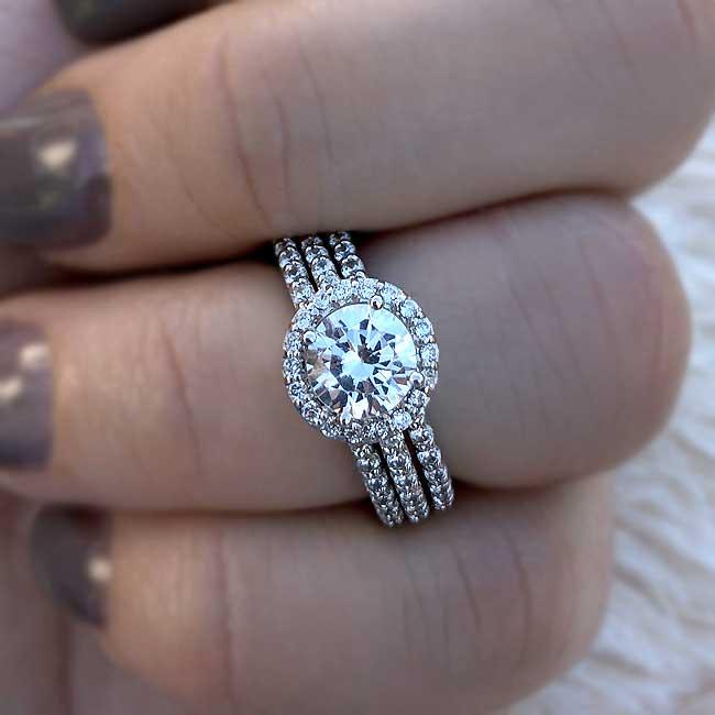 3 Piece Wedding Ring Set Image 3