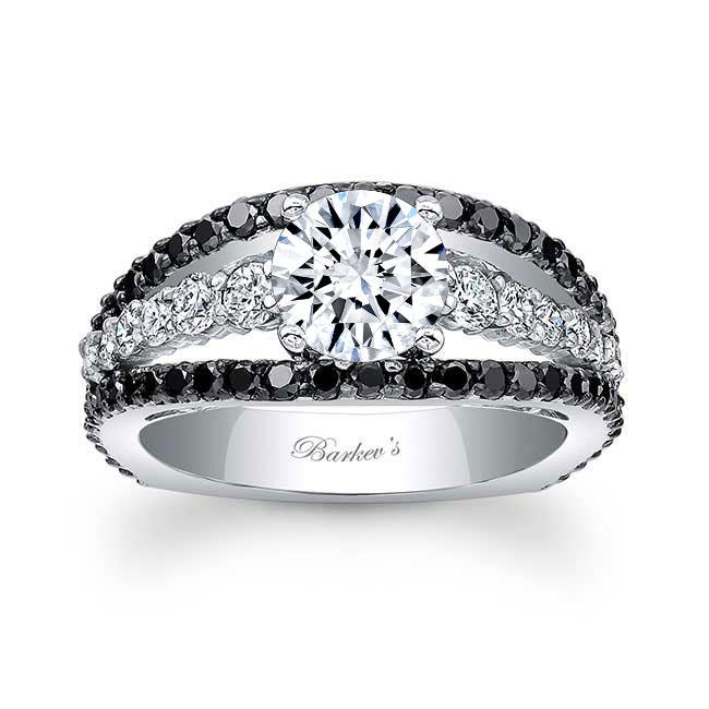 Black Diamond Engagement Ring 7896LBK
