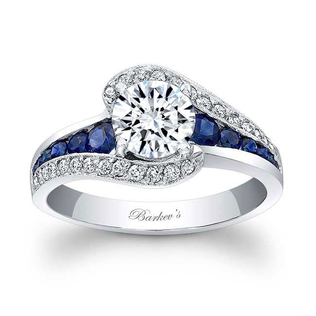 Unique Sapphire Engagement Ring 7898LBS Image 1