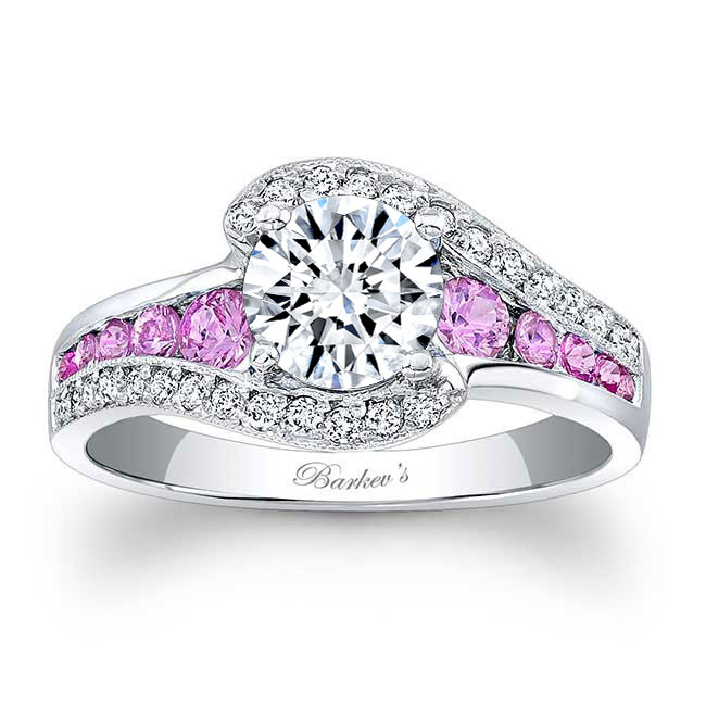 Pink Sapphire Engagement Ring 7898LPS Image 1