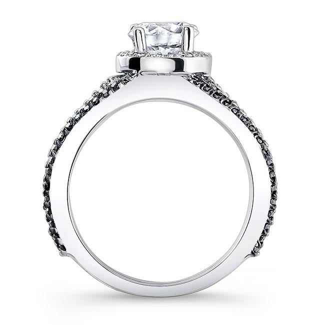 Black Diamond Engagement Ring 7899LBK Image 2
