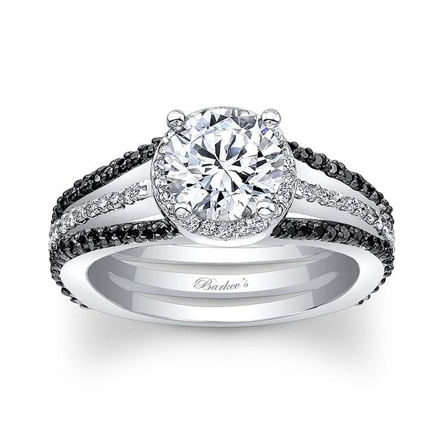 Black Diamond Engagement Ring 7899LBK