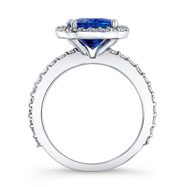 3.5 Carat Oval Tanzanite Ring Image 2