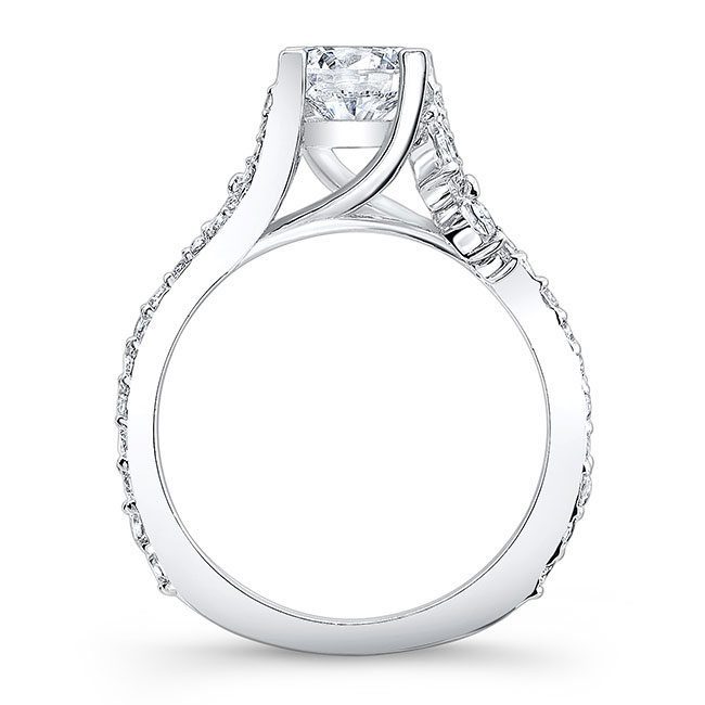 Moissanite And Marquise Diamond Engagement Ring MOI-7908L Image 2