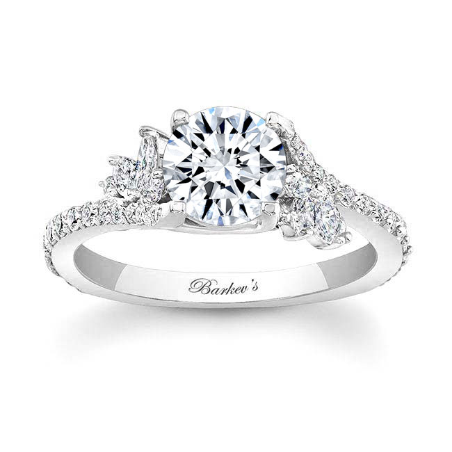 1.00ct. Round And Marquise Diamond Engagement Ring 7908L