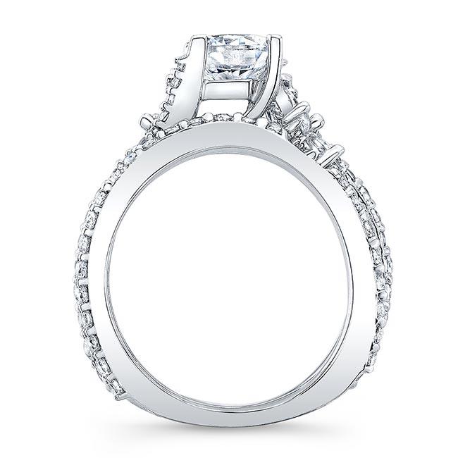 Moissanite White Gold Diamond Bridal Set MOI-7908S Image 2
