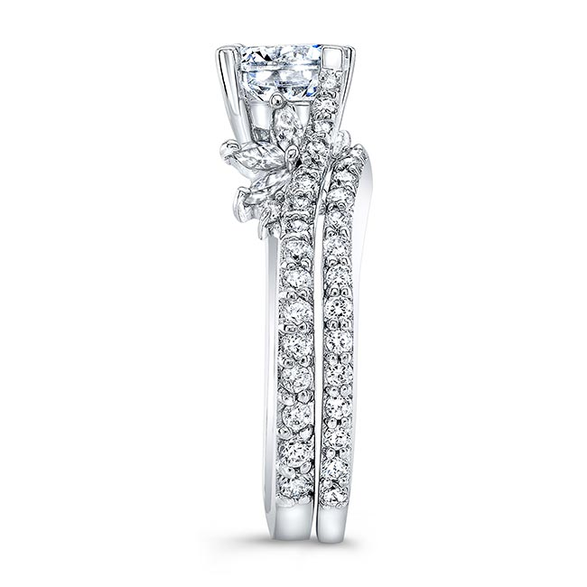 Moissanite White Gold Diamond Bridal Set MOI-7908S Image 3