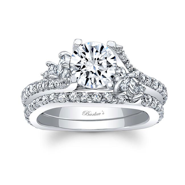 Moissanite White Gold Diamond Bridal Set MOI-7908S