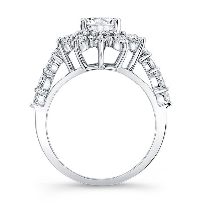 Lotus Flower Engagement Ring Image 2