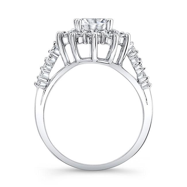 Halo Moissanite Engagement Ring MOI-7911L Image 2
