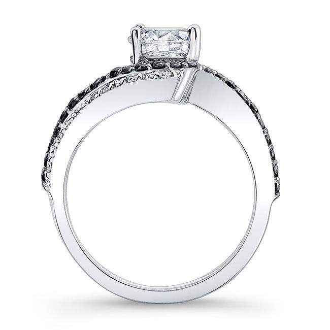 Black Diamond Engagement Ring 7912LBK Image 2