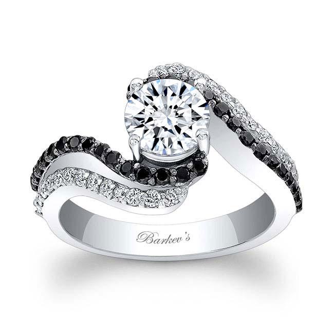 Black Diamond Engagement Ring 7912LBK Image 1