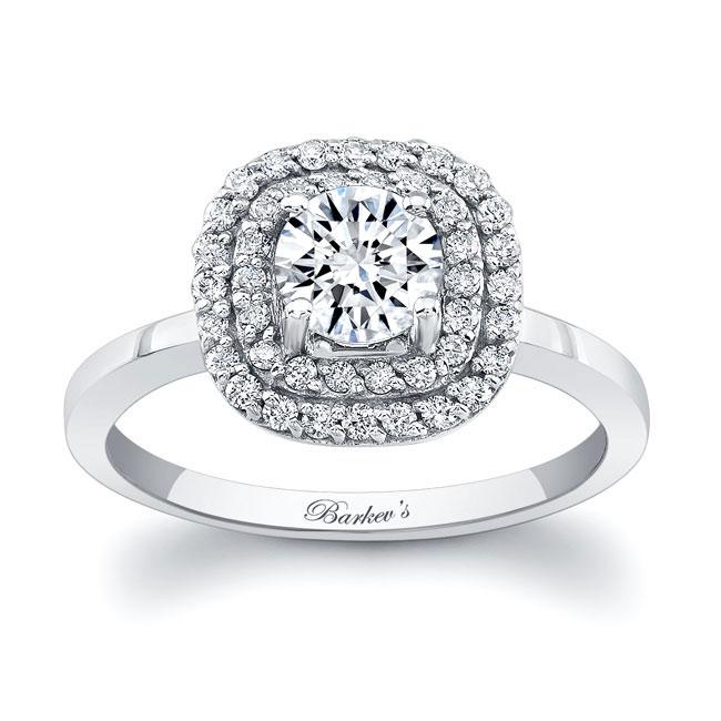 Double Halo Engagement Ring Image 1