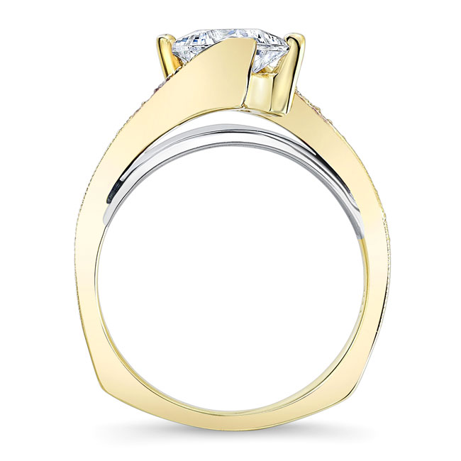 Princess Cut Moissanite Engagement Ring MOI-7922L Image 2