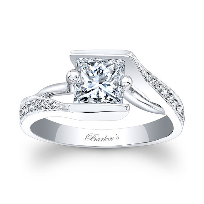 Princess Cut Engagement Ring 7924L