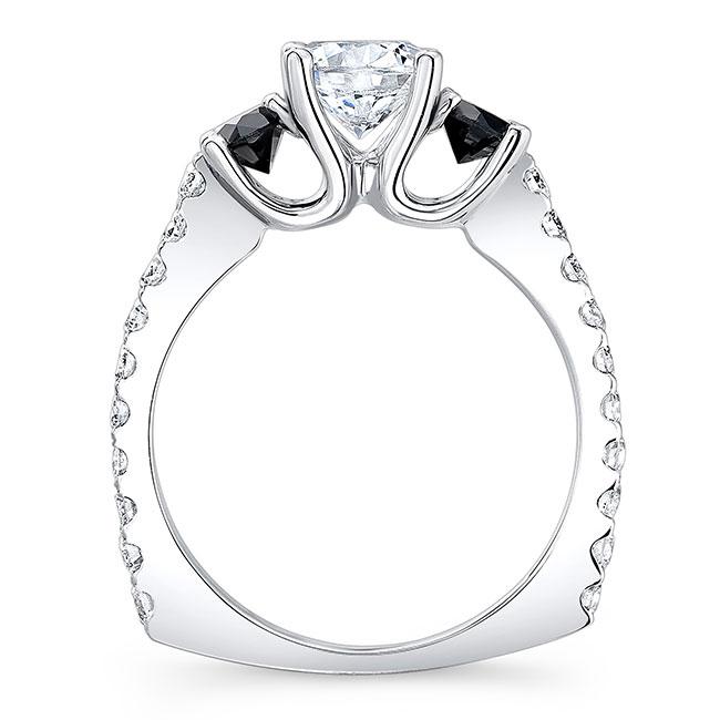 Black Diamond Engagement Ring 7925LBK Image 2