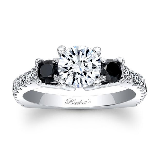Black Diamond Engagement Ring 7925LBK Image 1