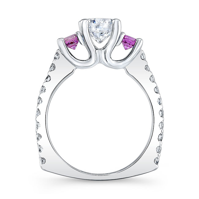 Pink Sapphire Engagement Ring 7925LPS Image 2
