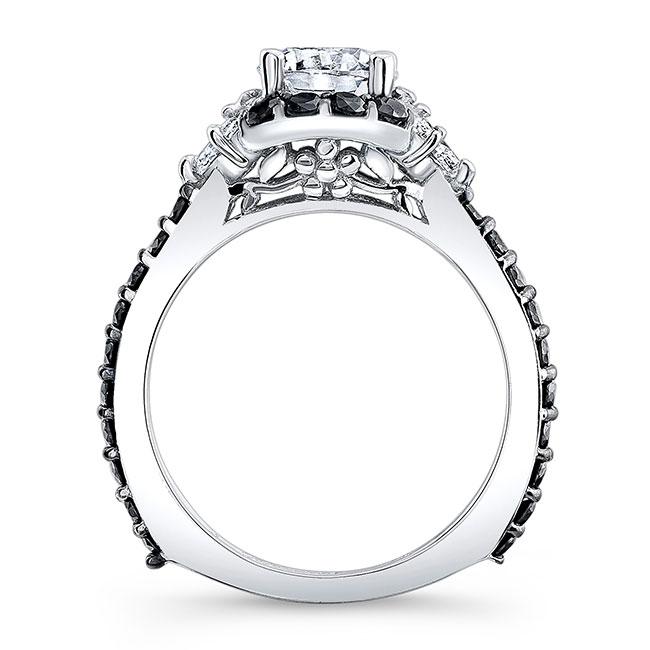 Black Diamond Engagement Ring 7930LBK Image 2