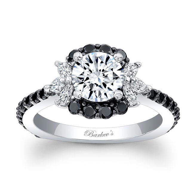 Black Diamond Engagement Ring 7930LBK